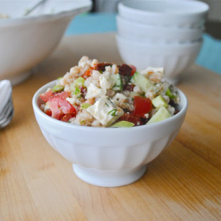 Farro with Feta, Tomatoes, and Cucumbers
