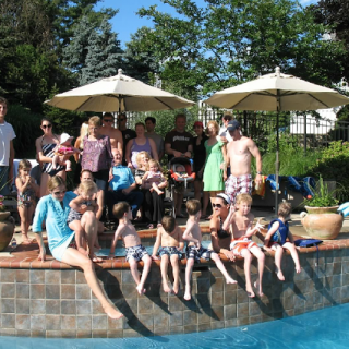 Pool Party and a Christening