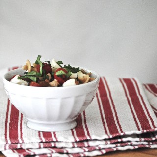 Pasta Caprese with Pine Nuts