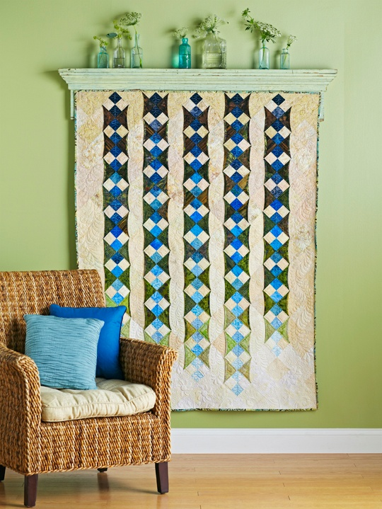 DIY} How to Hang a Quilt - The Chronicles of Home : hang a quilt on the wall - Adamdwight.com
