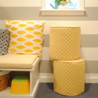 Playroom Addition | Upholstered Footstools
