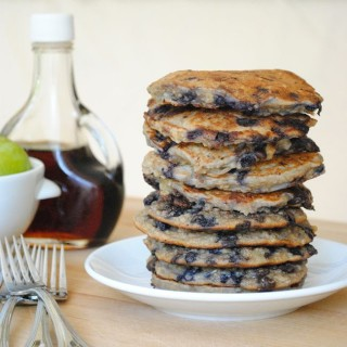 Quinoa Pancakes {with blueberries and chocolate chips}
