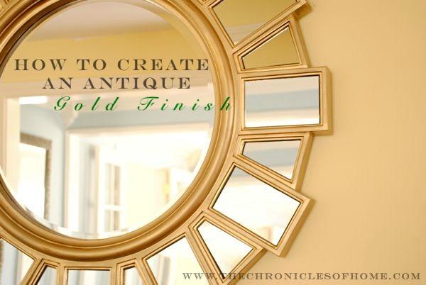 mirror gold spray paint