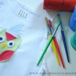 {DIY} Kids' Winter Owl Aprons | Children's Craft