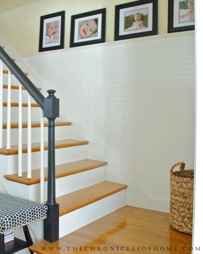 Grey Panelling Under Stairs: Stairs Makeover Complete! - The