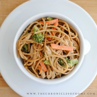 Chinese Chicken, Noodle, and Vegetable Salad