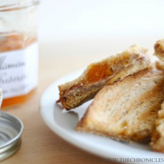 Almond Butter, Apricot, and Bacon Panini
