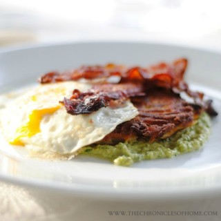 Bacon, Eggs, and Potatoes with Celery Pesto
