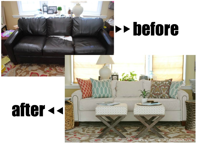 The Reveal Our Newly Upholstered Sofa Chronicles