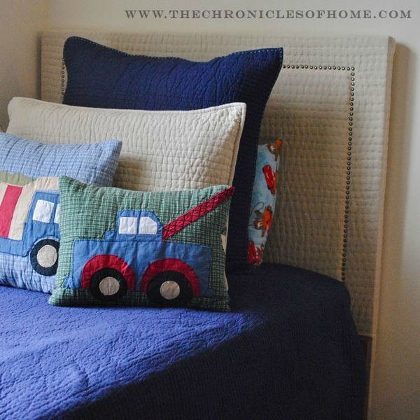 DIY} Upholstered Headboard With Nailhead Trim - The Chronicles of Home
