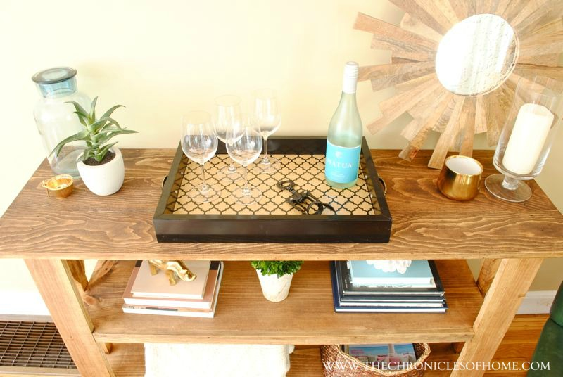 The Lacquered Tray Can Also Easily Be Moved From Place To If We Want Use It As A Drink On Coffee Table Screened Porch Or Deck When Re
