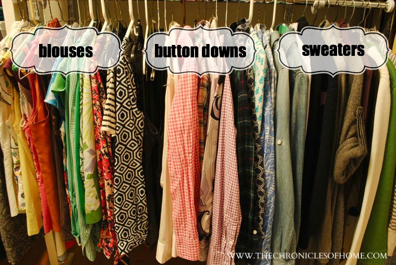 how to arrange clothes in closet by color 2