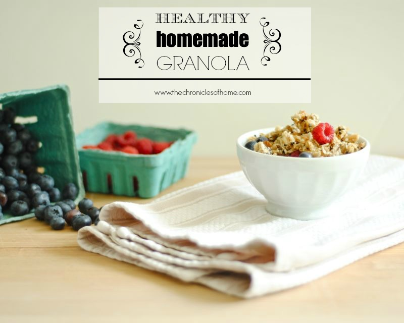 Healthy Homemade Granola with Seeds and Nuts