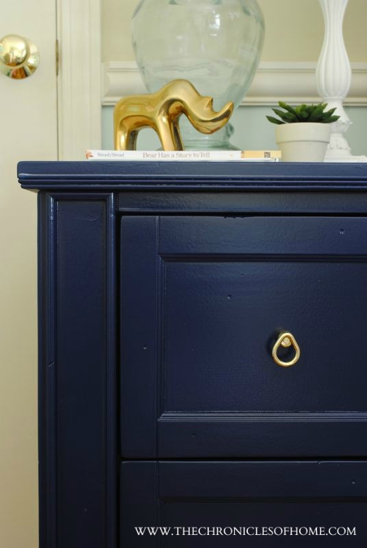 Navy Blue Nightstand The Chronicles Of Home