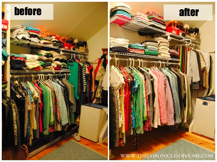 Closet organization without spending a dime the How to organize your clothes without a closet