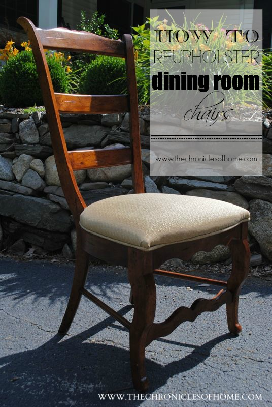 recover dining chairs - How To Recover Dining Room Chairs