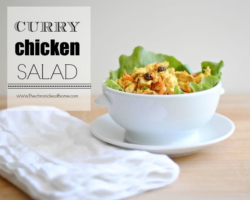 Easy make-ahead lunch - curry chicken salad