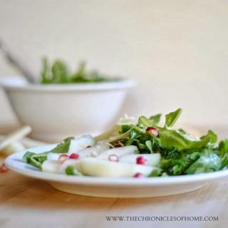 Arugula, Pear, & Pomegranate Salad