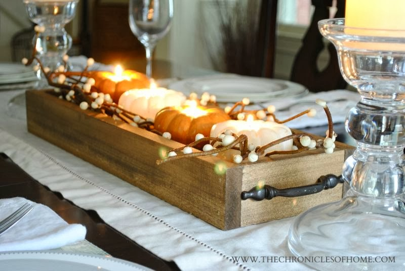 Easy Wooden Tray Centerpiece The Chronicles Of Home