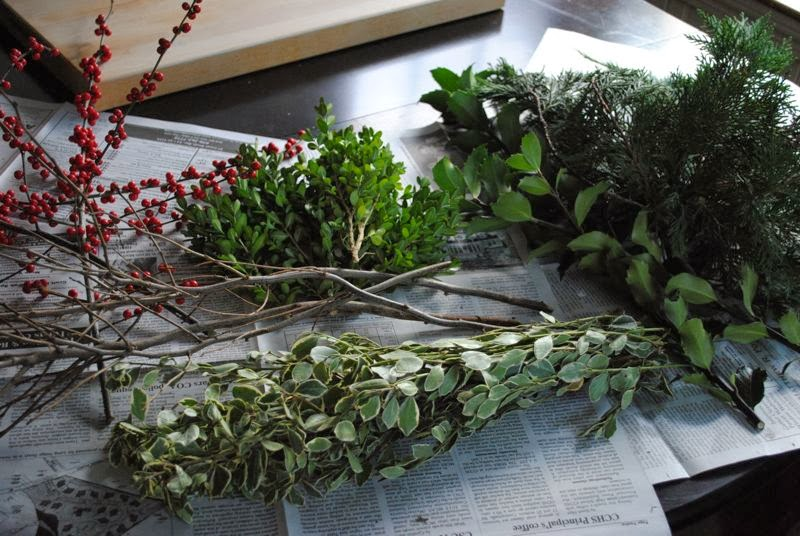 Christmas Greenery Centerpieces.First Crack At A Christmas Centerpiece The Chronicles Of Home