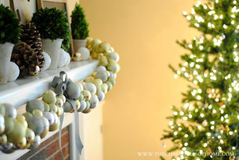 Easy DIY ornament garland from The Chronicles of Home - DIY Ornament Garland - The Chronicles Of Home