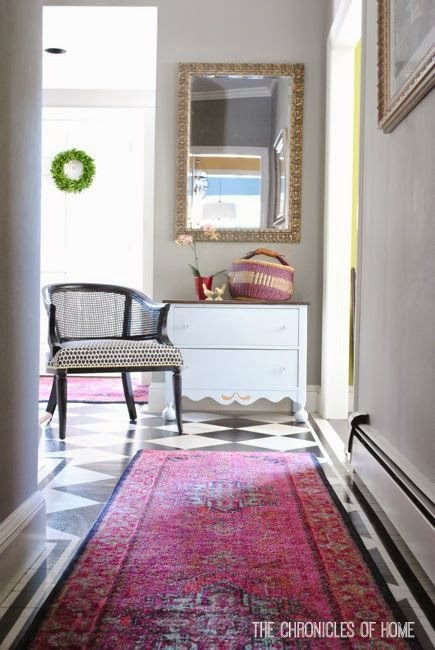Front Foyer Rugs : Bold pink entryway rugs the chronicles of home