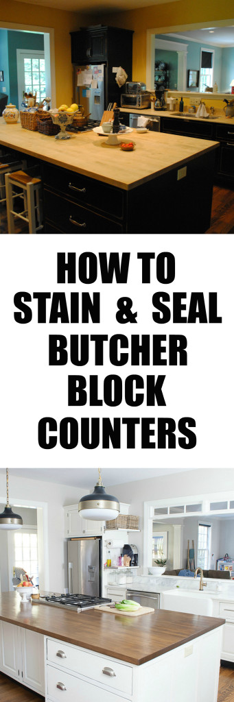 How To Stain and Seal Butcher Block Counters - The Chronicles of Home
