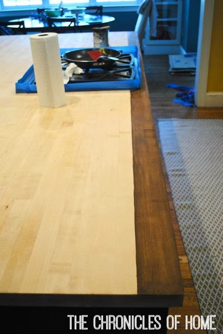 How To Stain And Seal Butcher Block Counters The Chronicles Of Home