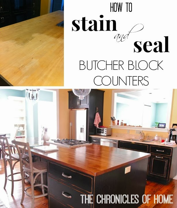 Best Finish For Butcher Block Countertop: New Counter Stools + Kitchen Plans