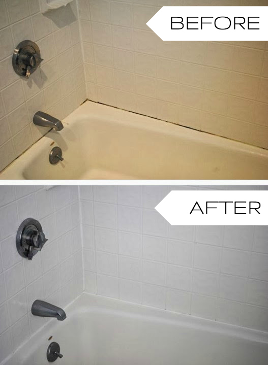 Tub Caulk 2. Iu0027d Like To Update The Bath Fixtures At Some Point, But This  Easy Refresh Made Such A Tremendous Difference, I Donu0027t Feel The Need To  Rush Into ...