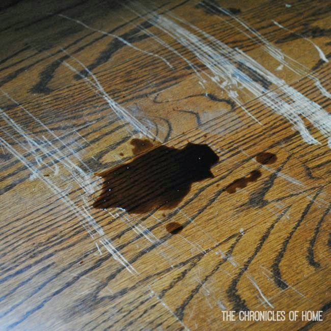 fix scratched hardwood floors in about five minutes - the