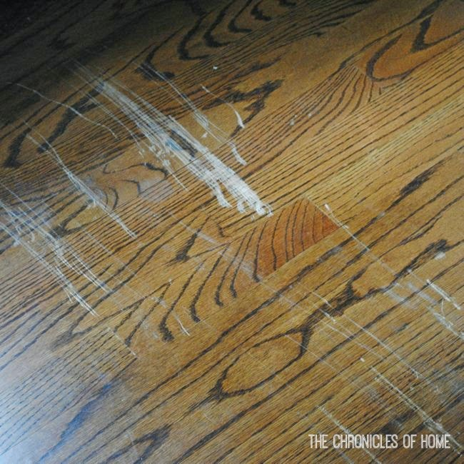 Fix scratched hardwood floors in about five minutes the for Hardwood floors 60 minutes