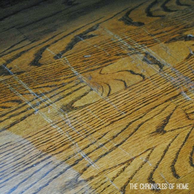 Hardwood Floor Scratch Repair how to remove scratches from wood furniture Then Use A Dry Paper Towel To Rub Over The Area Several Times I Passed Over It Three Times With A Clean Towel Each Time