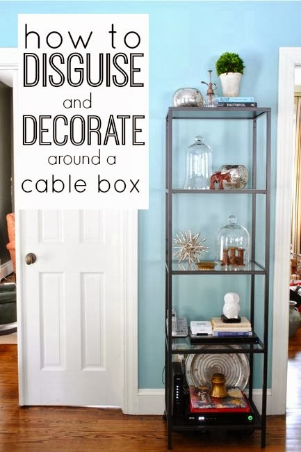 How to decorate around TV components so they are practically hidden, but still right out in the open!