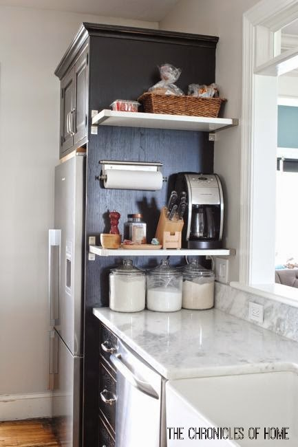 Easy Ideas To Maximize Vertical Space in the Kitchen - The ... on two tone kitchen cabinet color ideas, wood kitchen floor ideas, wood look kitchen countertops, wood slab countertops, wood kitchen countertops with sink, easy kitchen makeover ideas, wood computer desk ideas, wood countertops in kitchen, stucco interior wall ideas, wood diy countertops, wood countertops pros and cons, wood plank countertops, wood laminate kitchen countertops, wood outdoor bar ideas, top kitchen island ideas, kitchen with cherry cabinets ideas, wood home renovation ideas, modern countertops design ideas, wood cabinets with wood countertops, wood countertops for kitchen,