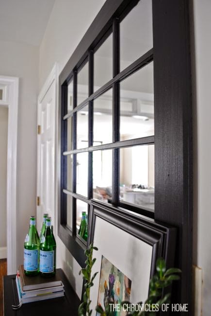 Diy windowpane mirror the chronicles of home Window pane mirror