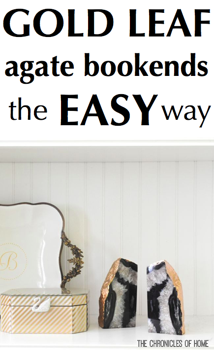 How to gold leaf agate bookends the easy way