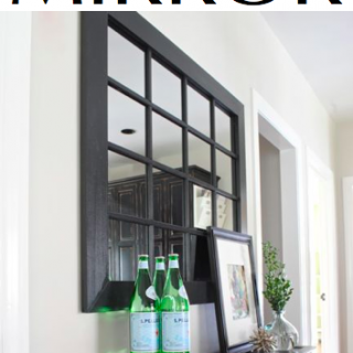 DIY Windowpane Mirror