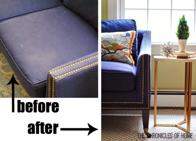 How To Dye, Darken, And Generally Freshen An Old, Faded Sofa   From