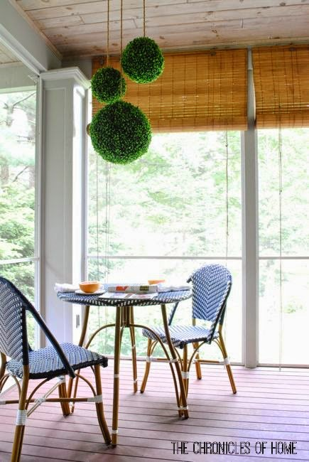 DIY lighted boxwood pendants by The Chronicles of Home