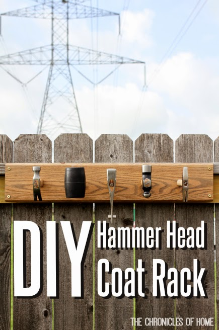 DIY Hammer Head Coat Rack from The Chronicles of Home