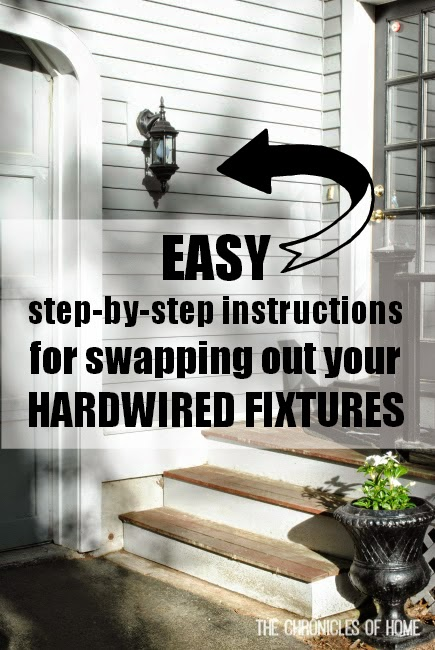 Swapping out a hardwired light fixture is easier than you think!  The Chronicles of Home shows you how in this simple step-by-step tutorial.