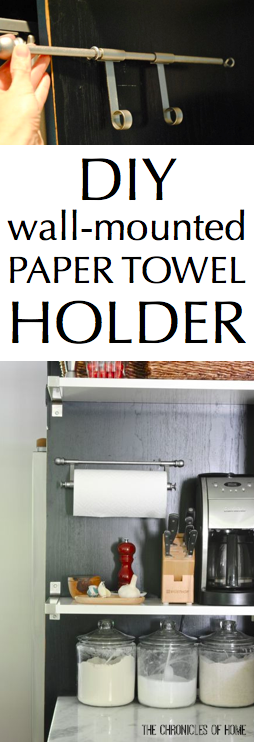 DIY wall-mounted paper towel holder from The Chronicles of Home