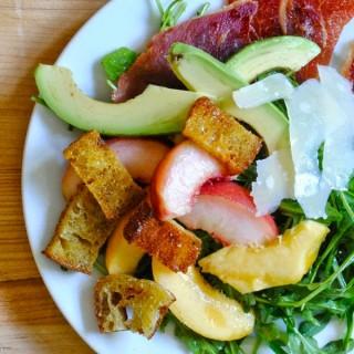 Peach, Parmesan, & Prosciutto Salad