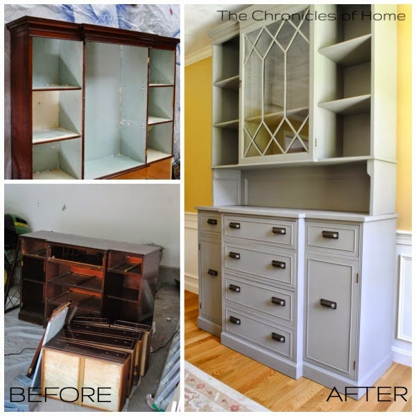 Easy directions for raising the top of a vintage hutch from The Chronicles of Home