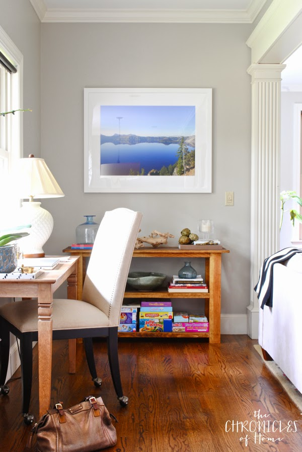 Small office nook with gallery quality framed photograph