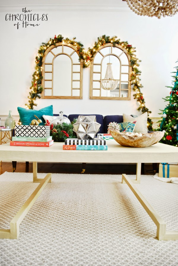 How to make a DIY lacquered grasscloth coffee table (by The Chronicles of Home)