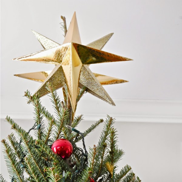 Easy Diy Moravian Star Inspired Christmas Tree Topper The