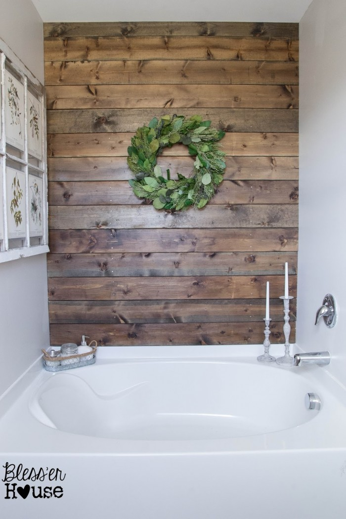 Planked Master Bathroom