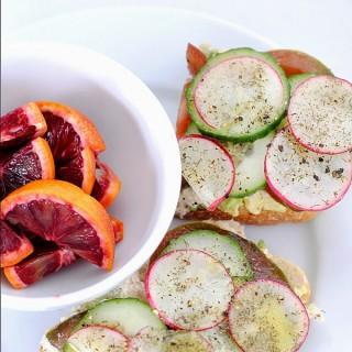 Tuna and Avocado Tartine